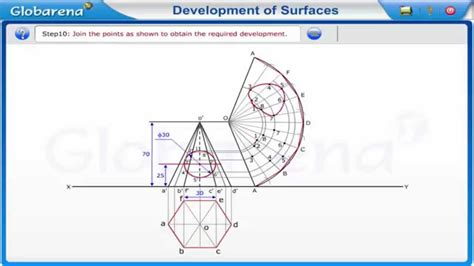technical drawing pattern development development of surfaces problem 2 engineering drawing