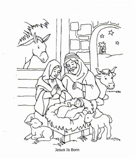 Jesus Is Born Coloring Pages free coloring pages