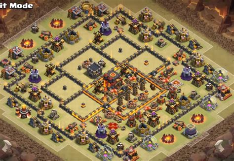 coc village layout th10 top 60 best th10 war base farming hybrid trophy
