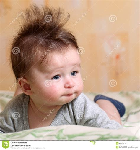 Mohawk Hairstyle For Baby Stock Photos   Image: 27922813