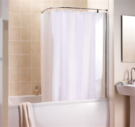 Bathroom Shower Curtain Rails Manhattan Curved Shower Curtain And Rail M3clcscrc