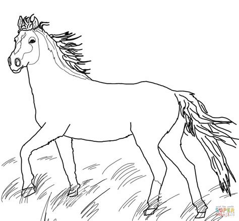 Wild Horses Coloring Pages To Print | mustang wild horse coloring page free printable coloring