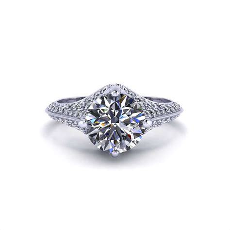 pave engagement rings pave engagement ring jewelry designs