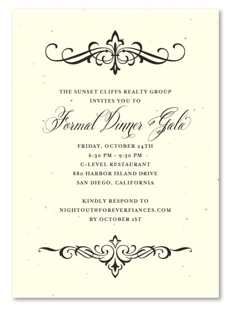 formal dinner invitation cards templates formal invitation to dinner template songwol 108f27403f96