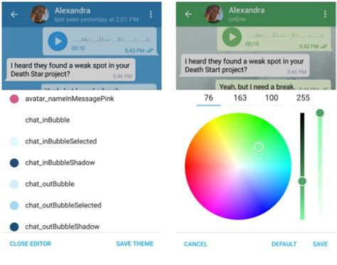 telegram custom themes latest update for telegram on android brings support for