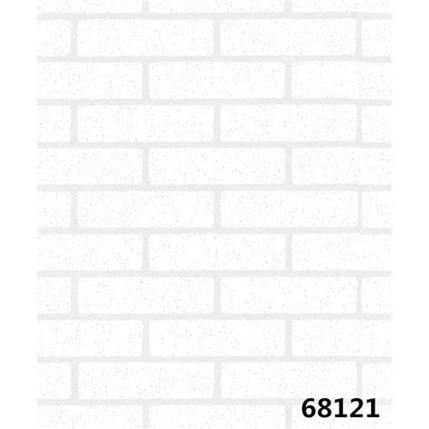 wallpaper dinding batu bata putih shopee indonesia