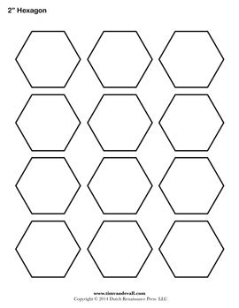 free printable hexagon template 2 inch hexagon template www pixshark images