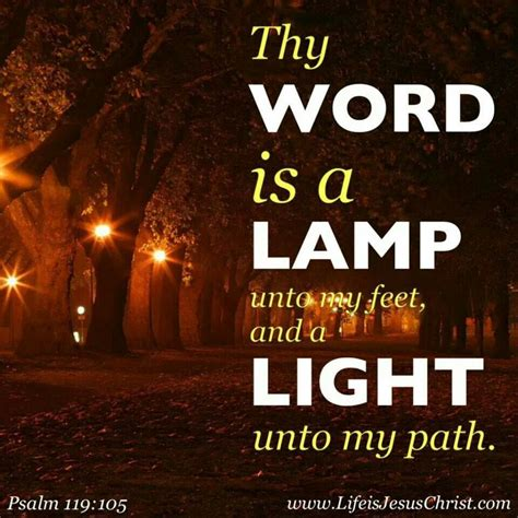 Psalm 119 Thy Word Is A L by Psalm 119 105 Bible Verses