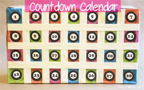 countdown calendar printable template countdown calendar repeat crafter me