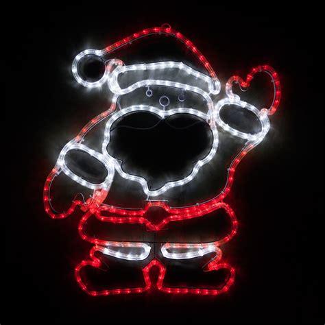rope light santa outdoor decoration 28 quot led waving santa