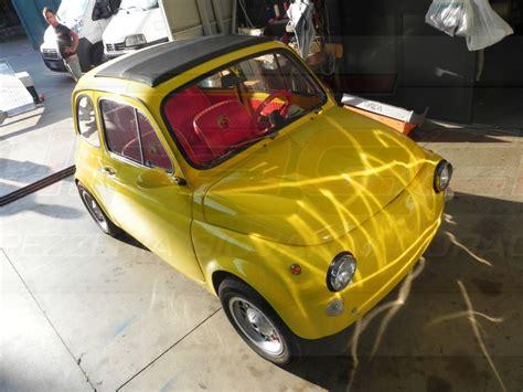 tappezzeria duraccio fiat 500 yellow tappezzeria duraccio