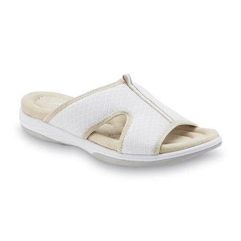 kmart womens sandals athletech s averley white sport slide sandal shoes