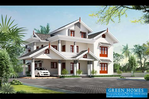 green homes beautiful kerala home design 3500 sq