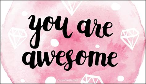 You Are free you are awesome ecard email free personalized care