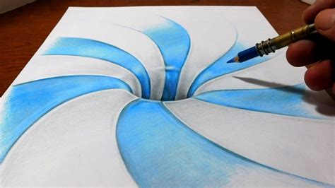 pattern drawing youtube drawing a spiral pattern hole anamorphic illusion youtube