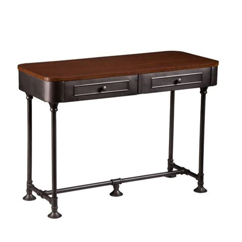 Edison Table L Edison Table L Southern Enterprises Edison Console Table In Tobacco And Gray Ck9153 Walker