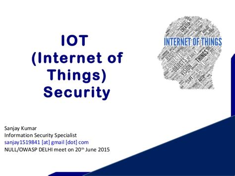 iot security of things