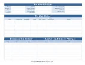printable pet health record