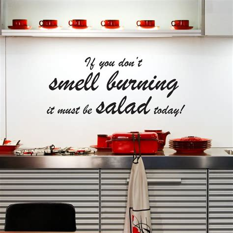 Kitchen Cabinet Quote Salad Wall Sticker Kitchen Quotes Wall Stickers