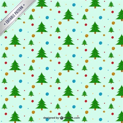 pattern christmas tree christmas tree pattern vector premium download