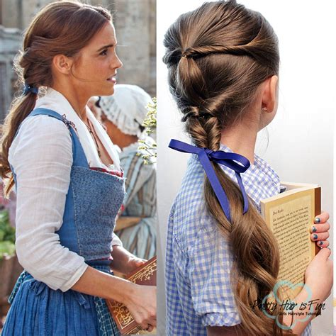 belle hairstyle pretty hair is fun beauty and the beast emma watson