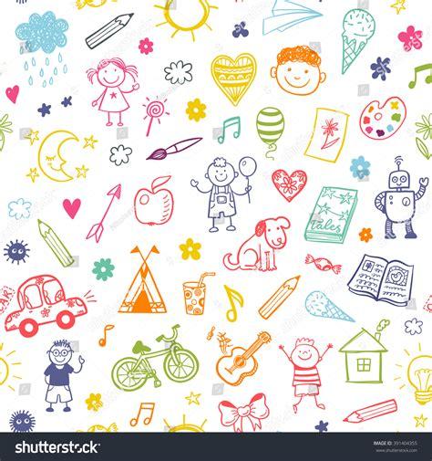 seamless pattern shutterstock seamless pattern doodle children drawing stock vector