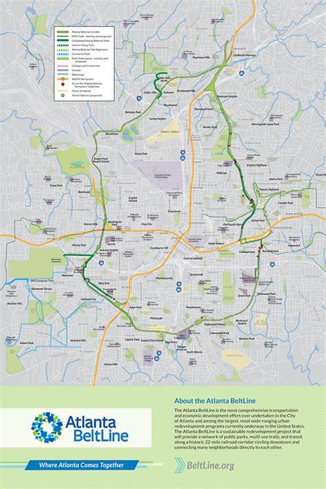 atlanta beltline map poster atlanta beltline map