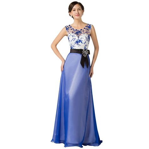 pattern dress formal aliexpress com buy classic blue floor length satin