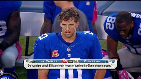 bench eli manning nfl would the giants dare bench eli manning touchdown europe