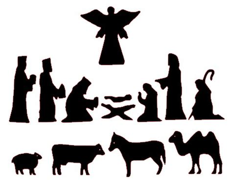 print out nativity scene silhouette search results