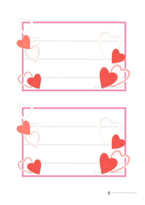 card insert template ks1 valentines day activity free printable for writing