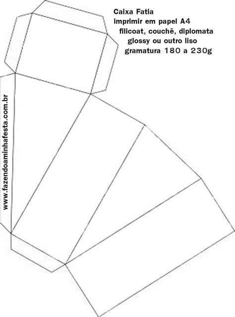 Molde Caixinha Fatia de Bolo | Molde caixa, Molde caixa