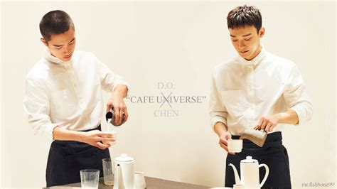 exo cafe universe d o x chen exo cafe universe wallpaper by mrfishbone99