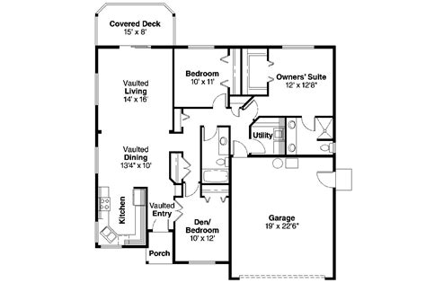 suburban house floor plan ranch house plans dexter 30 547 associated designs