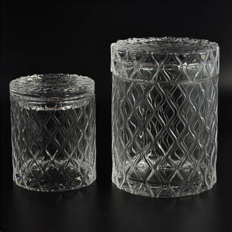 wholesale glass wholesale decorative glass candle jar with lid