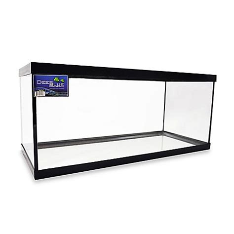 fish tank bed frame buy deep blue professional 20 gallon oblong fish tank with black frame from bed bath