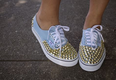 diy shoe diy studded spiked sneakers secretslmr