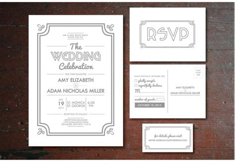 Wedding Invitation Info Card by Printable Vintage Wedding Invitation Rsvp Postcard Info