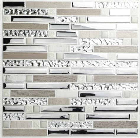 glass and stainless steel backsplash stainless steel mosaic tiles ssmt001 glass mosaic tile