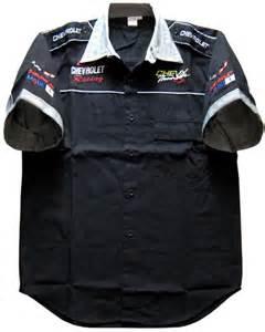 mscv7019 chevrolet chevy thunder racing pit crew shirt m