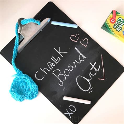 diy chalkboard duster create with diy chalk board and crocheted duster