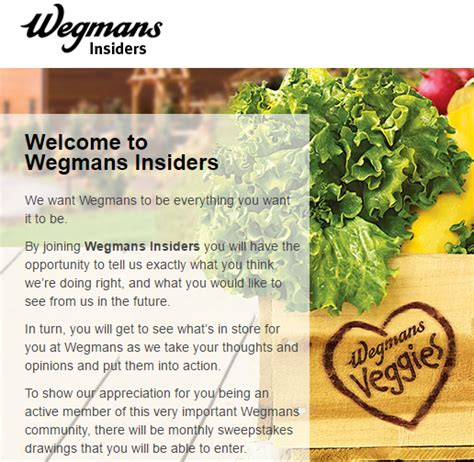 Wegmans Grocery Store Gift Cards - sign up to become a wegmans insider couponing at wegmans