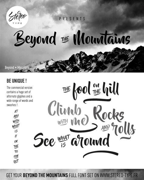 dafont typography beyond the mountains dafont com