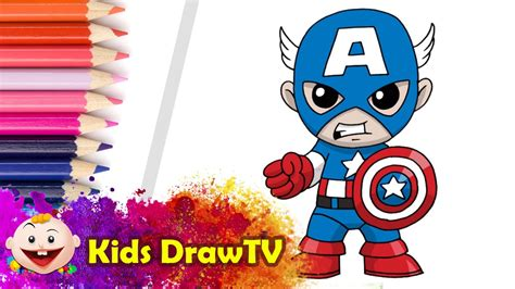 Captain America Kid how to draw captain america step by step easy captain