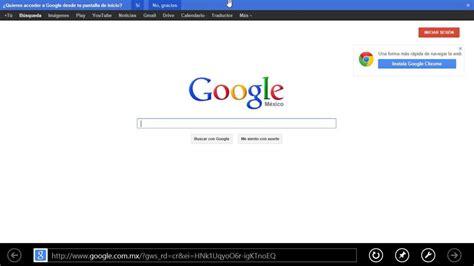 imagenes google mx poner google de p 225 gina principal windows 8 internet