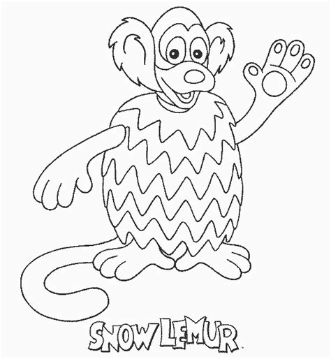 Zoboomafoo Coloring Pages imgsnowlemur free printable zoboomafoo coloring pages