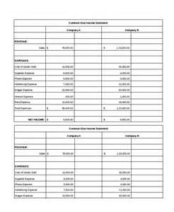 income template excel income statement 7 free excel documents
