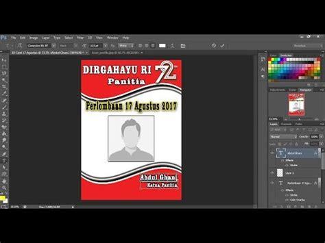 Kaos Buat Perlombaan 17 Agustusan cara membuat id card lomba 17 agustus di photoshop