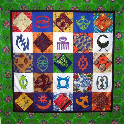 Cultural Quilt by Debby Kratovil Quilts Adinkra Quilt 2016 Block Of The Month