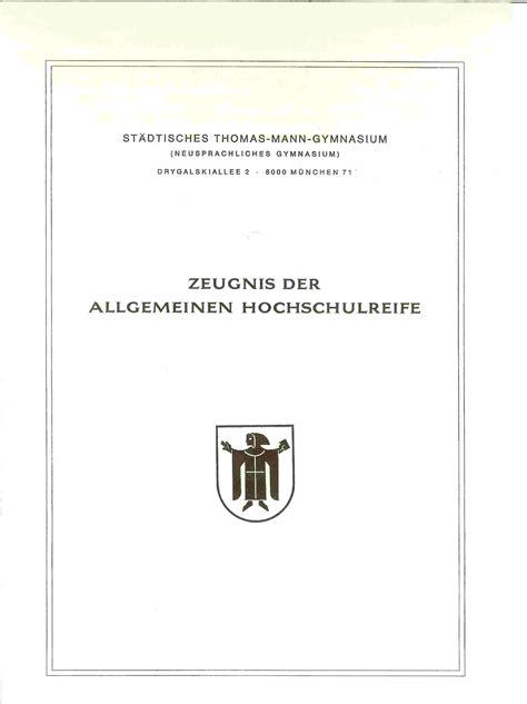 Lebenslauf Abitur Allgemeine Hochschulreife Profil Sechser